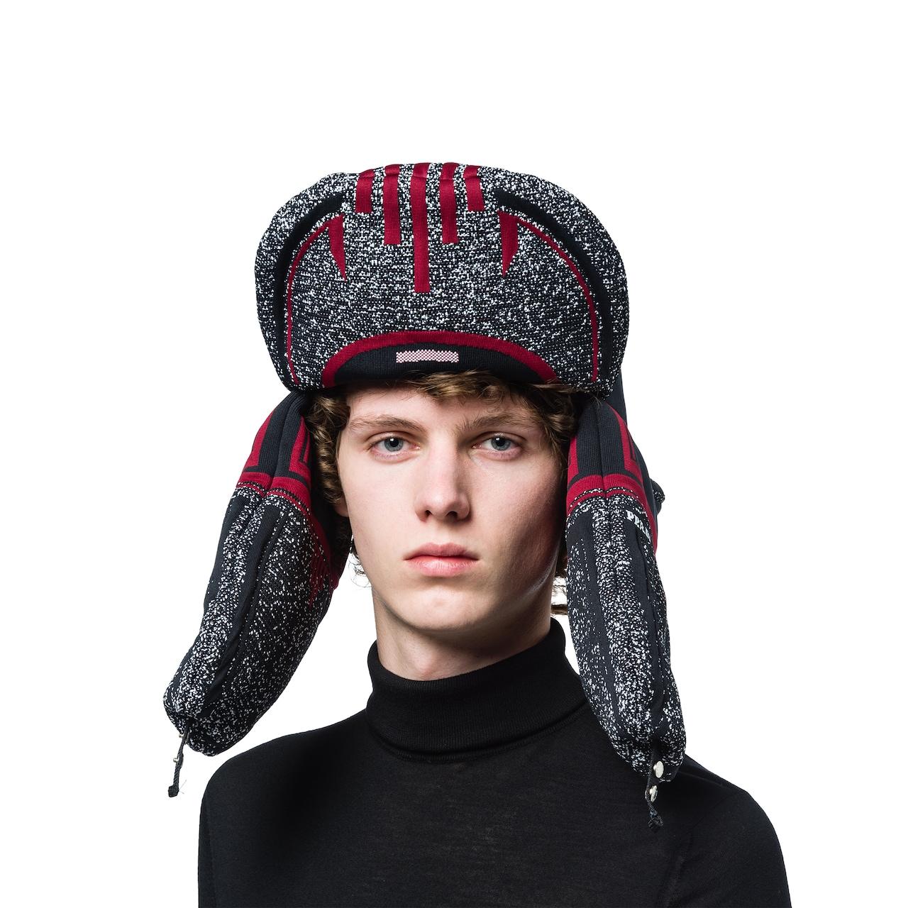 Padded jacquard hat
