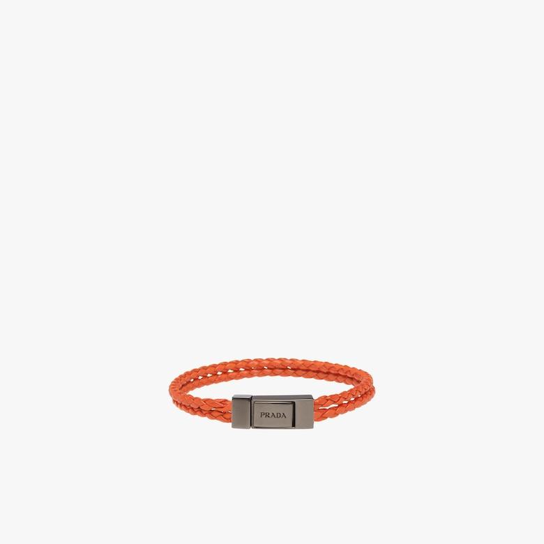 Prada Braided leather wrist strap - Man