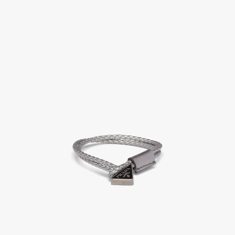 Prada Braided Nappa Leather Bracelet - Man