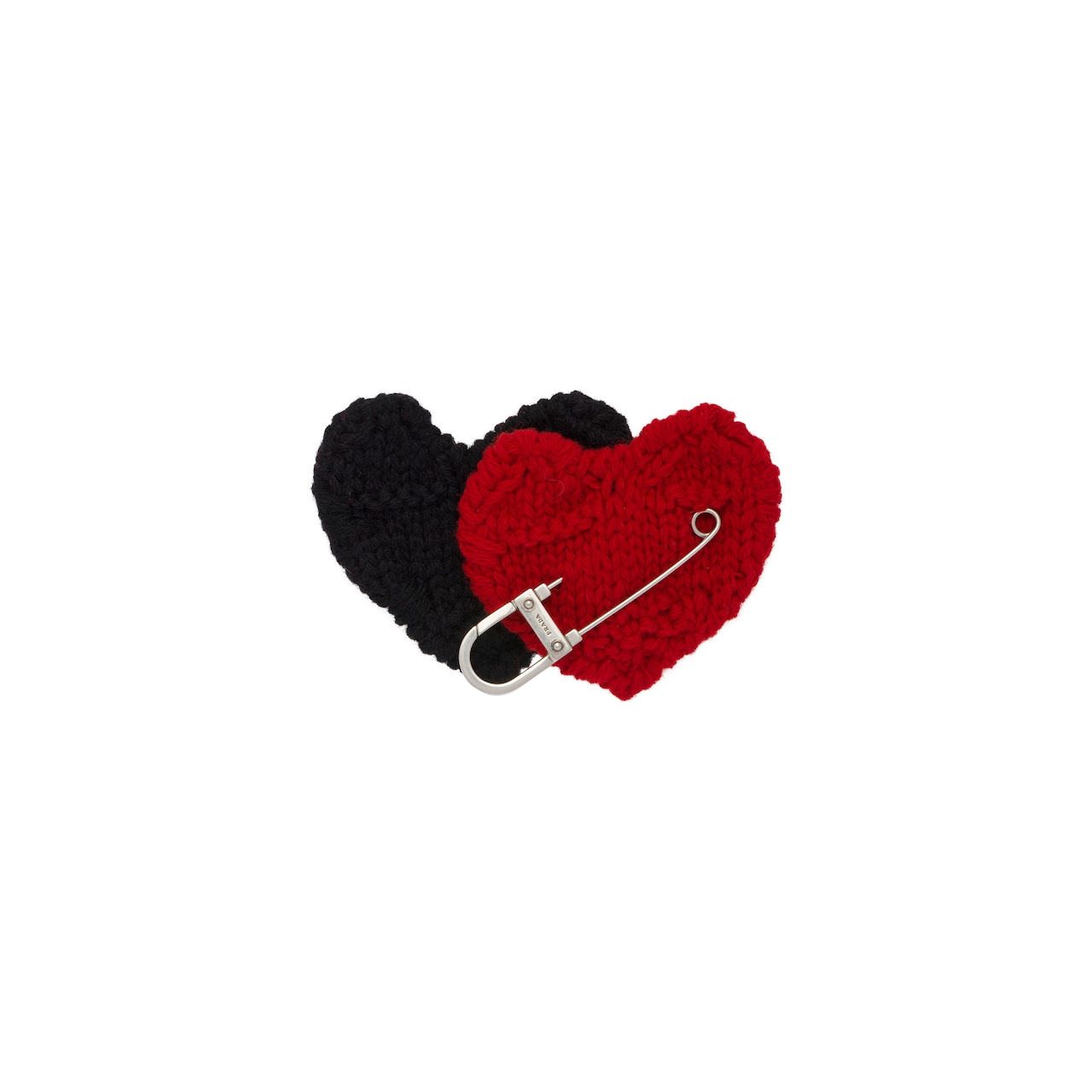 Safety pin with heart