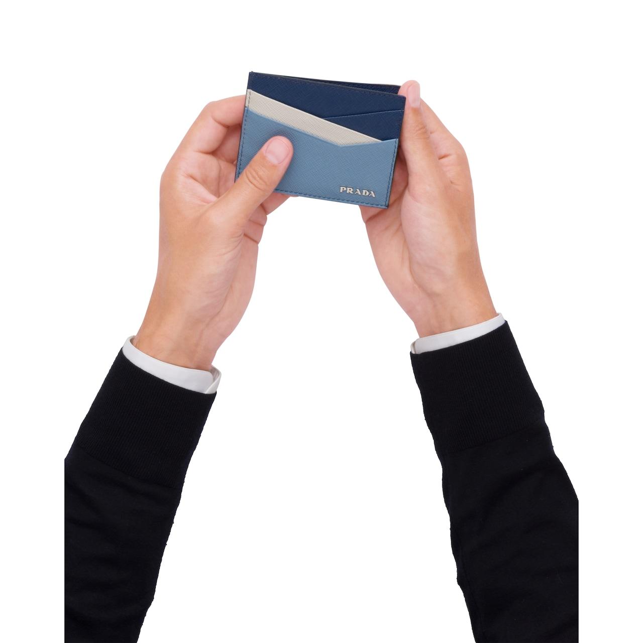 Prada Saffiano leather card holder 2