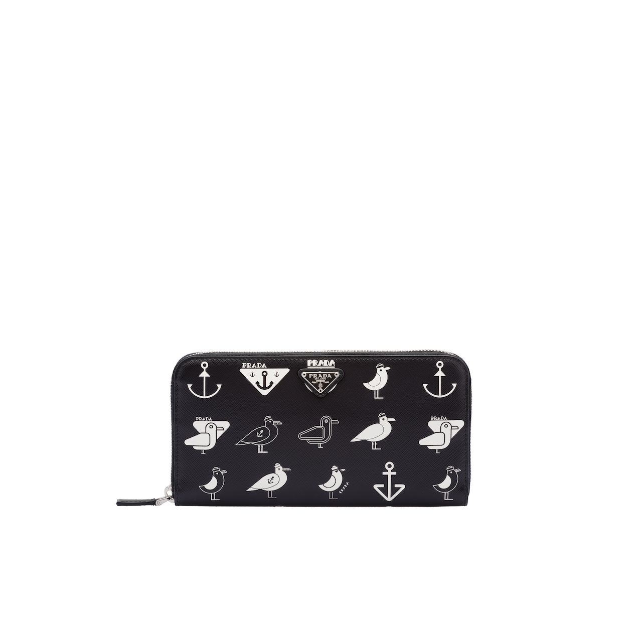 Printed Saffiano leather document holder