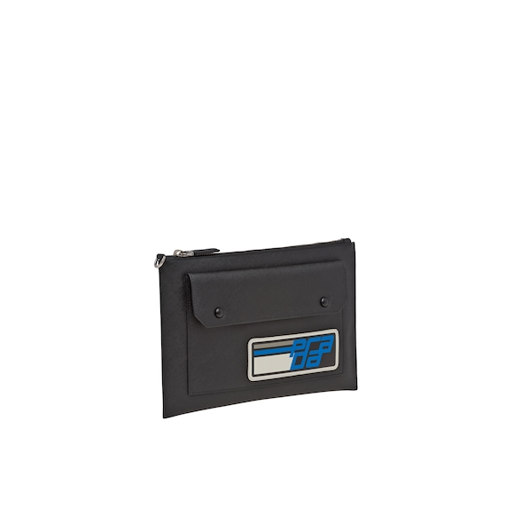 Saffiano leather document holder