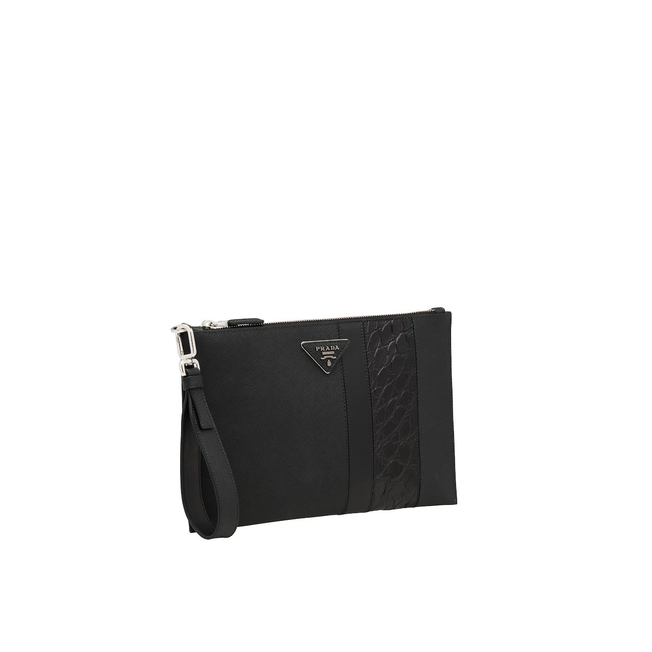 Prada Saffiano leather pouch 4