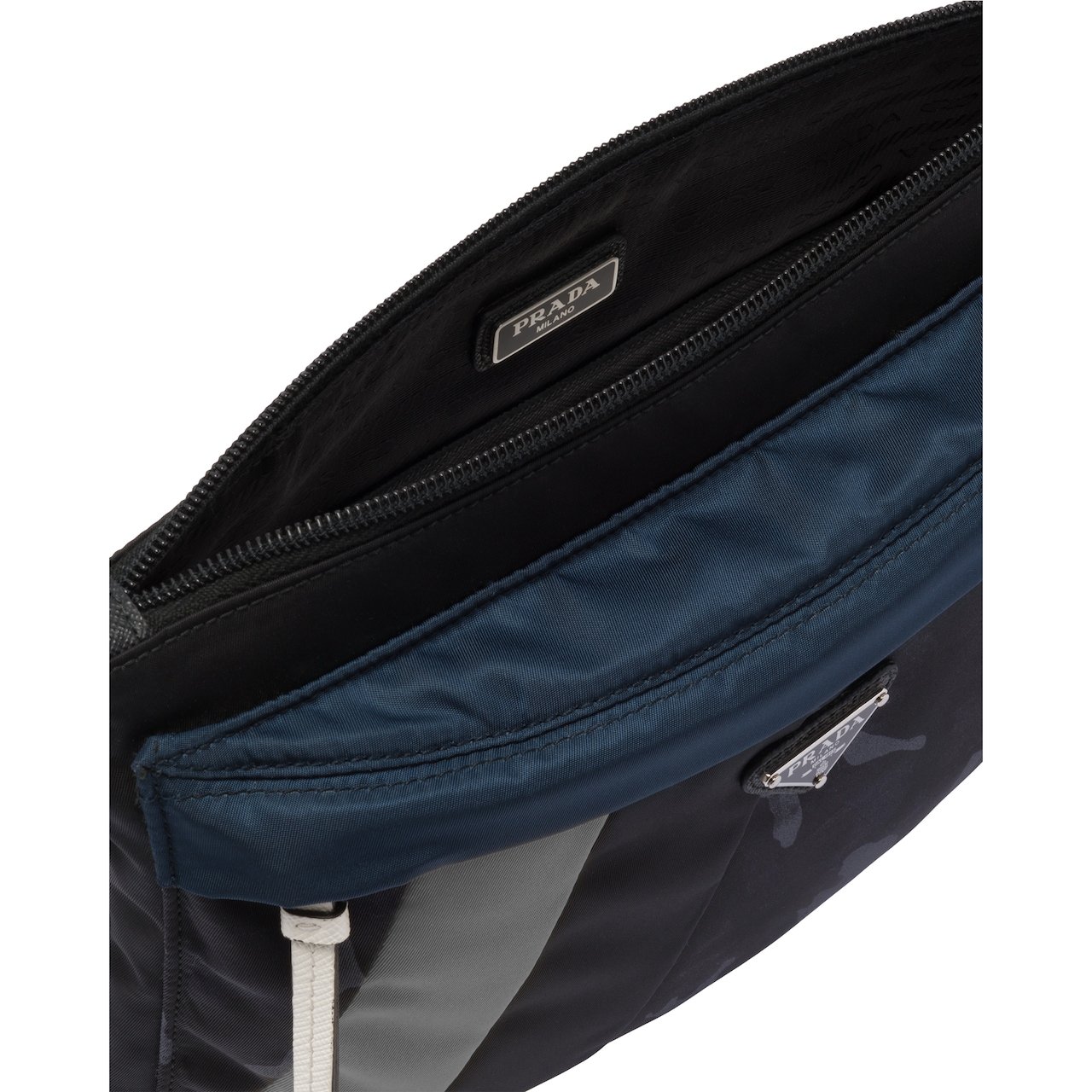 Prada Nylon and Saffiano leather pouch 2