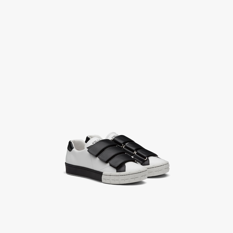 Prada Wheel two-tone leather sneakers
