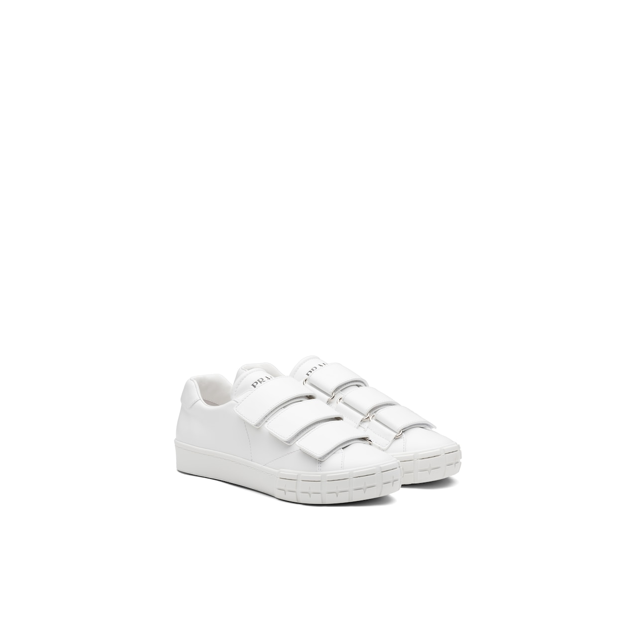 Prada Prada Wheel 皮革运动鞋 1
