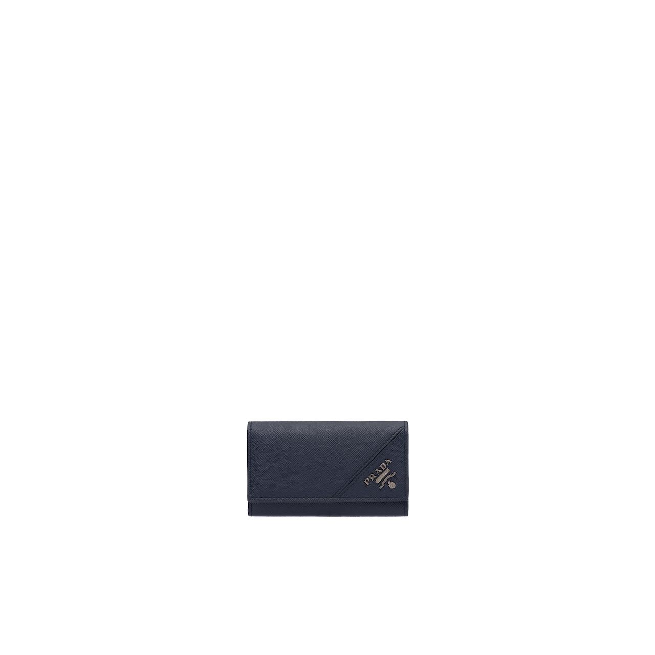 Prada 6匙Saffiano 皮革钥匙包 1