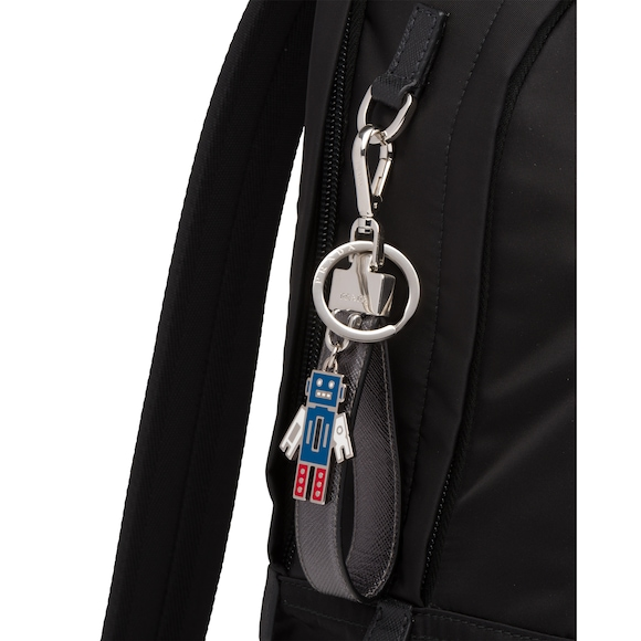 Prada Saffiano Leather Keychain 2