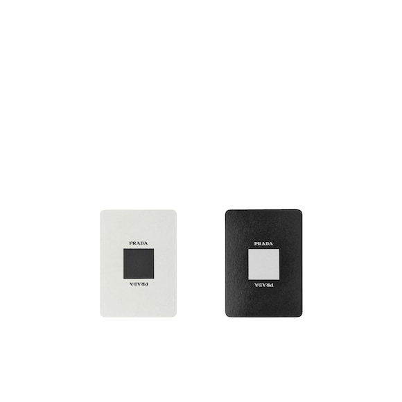 Saffiano leather Playing Cards set
