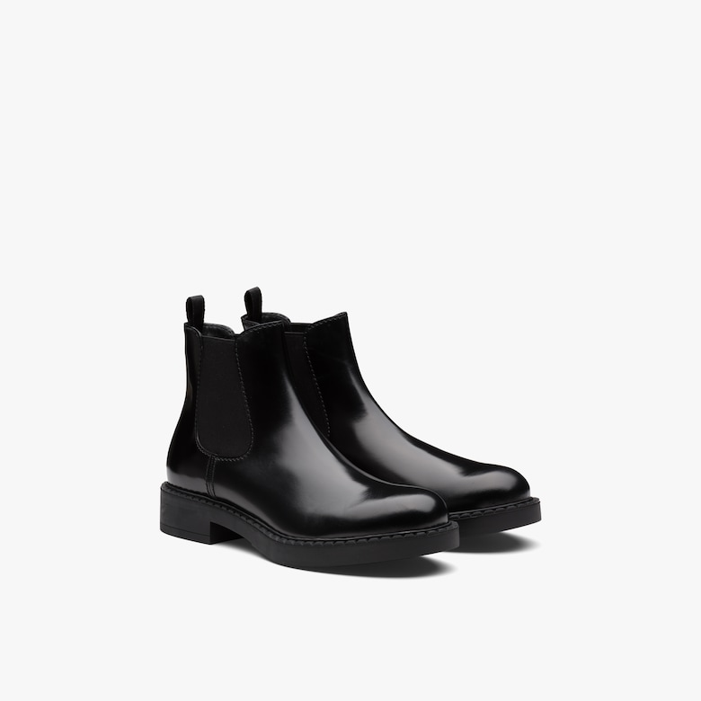 Prada Brushed calf leather Chelsea boots - Man