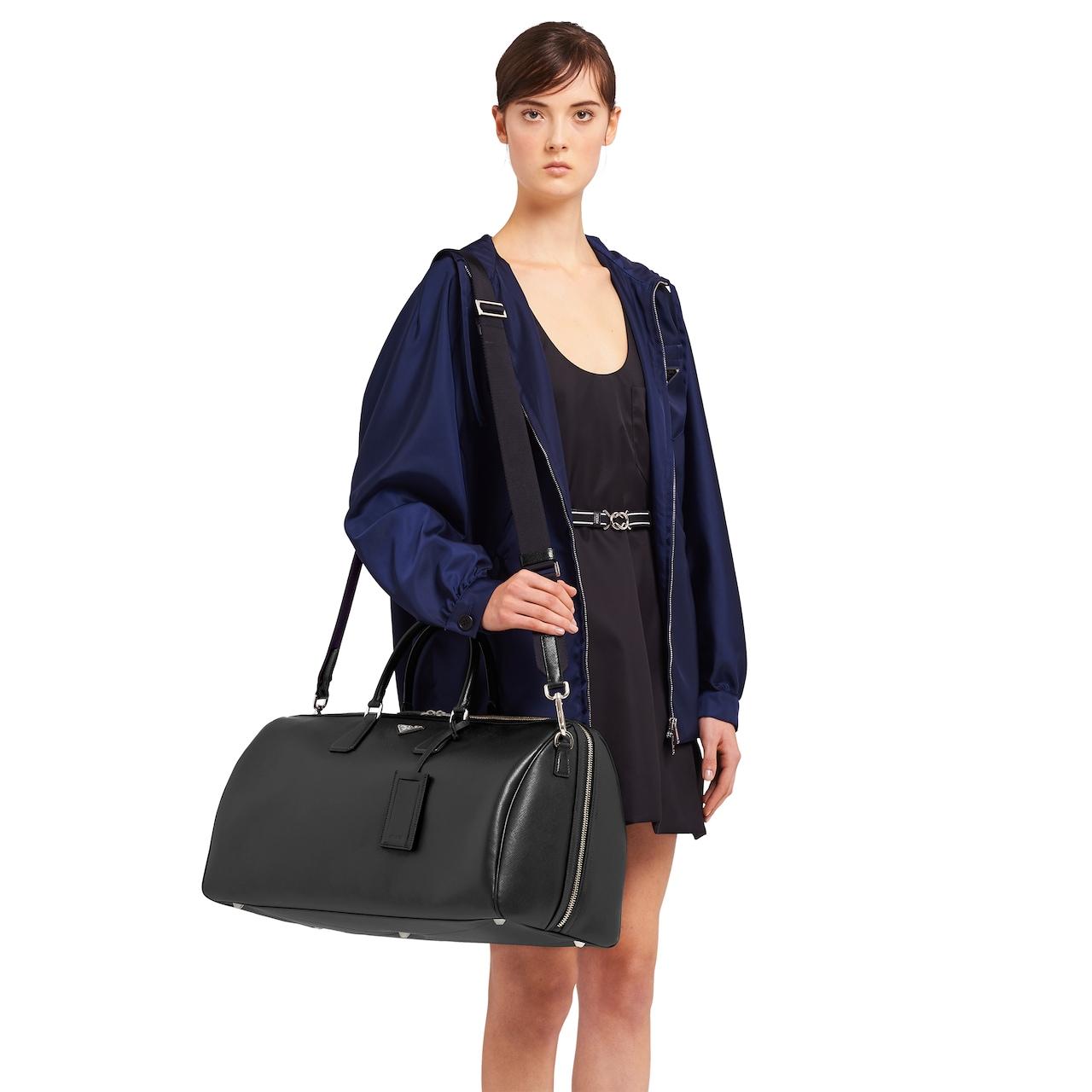 Prada Saffiano leather duffle bag 2