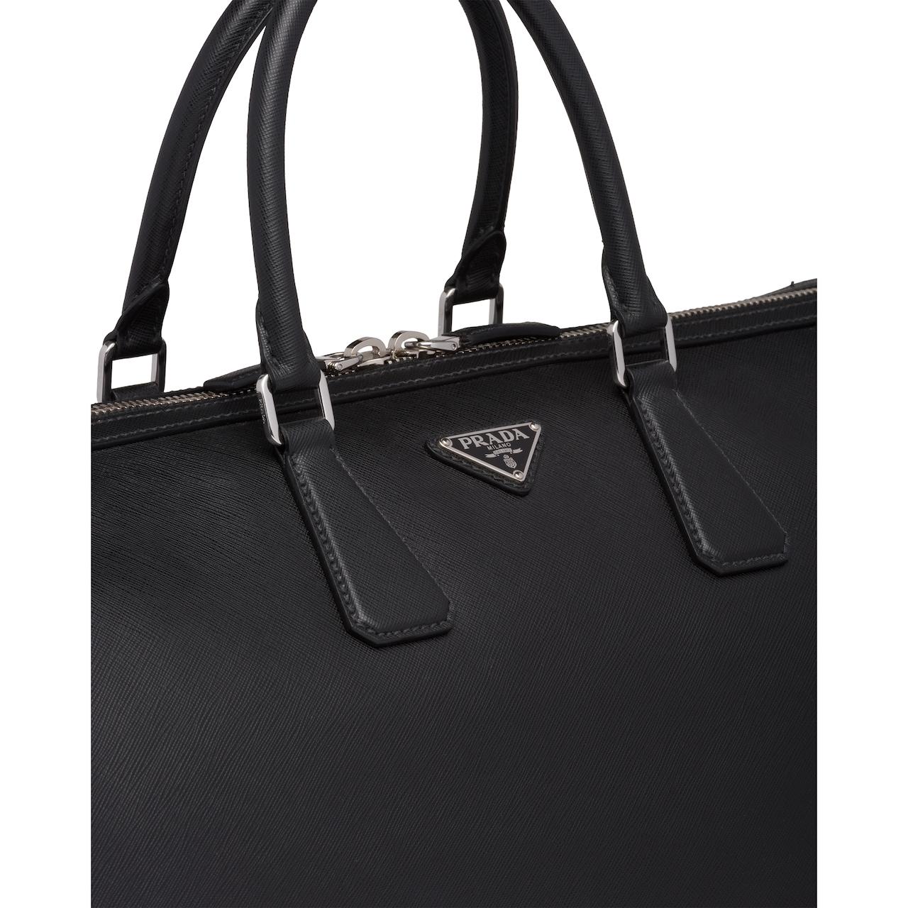 Prada Saffiano leather duffle bag 6