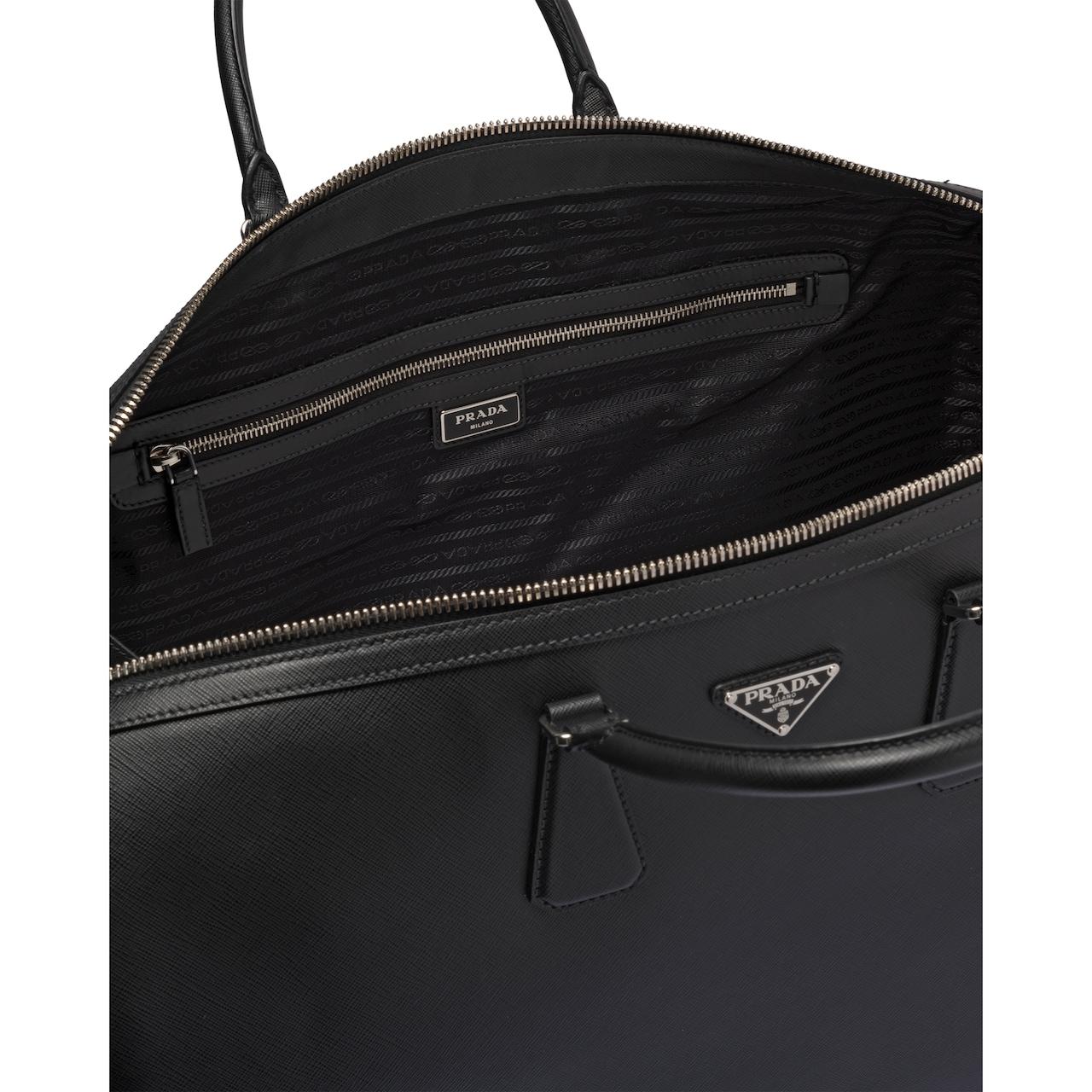 Prada Saffiano leather duffle bag 5