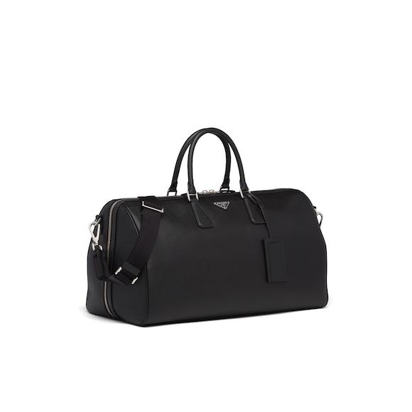 Saffiano leather duffle bag