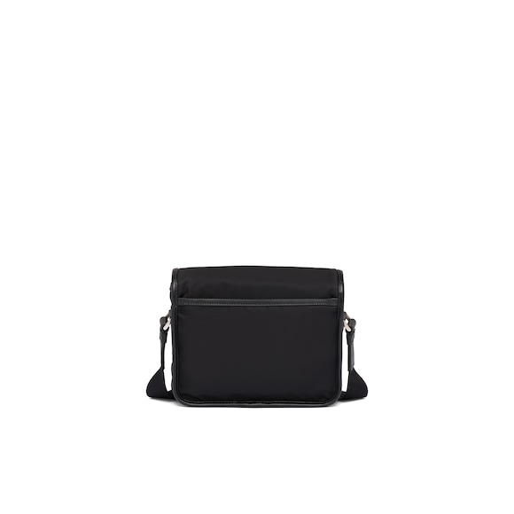 Prada Nylon and Saffiano leather shoulder bag 4
