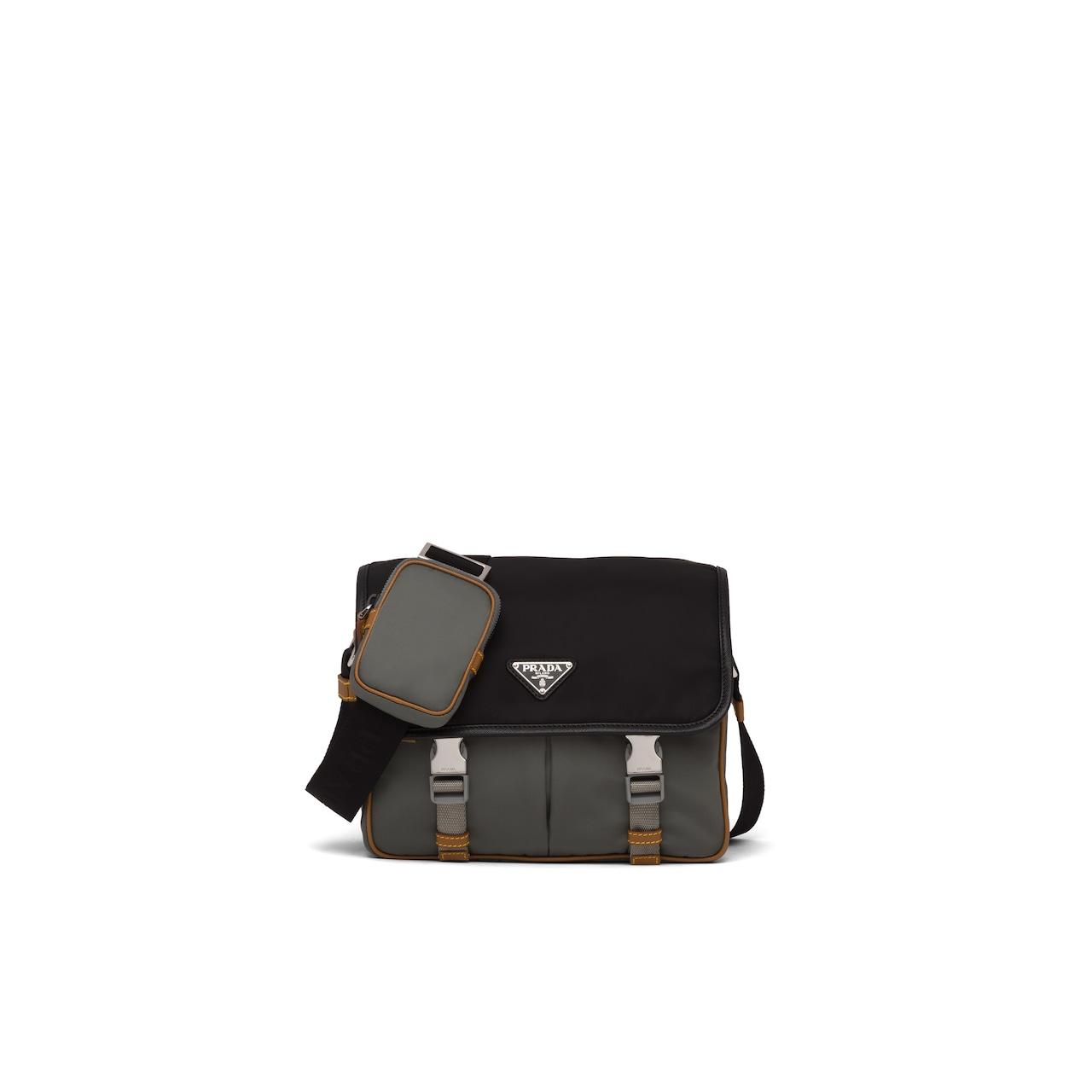 Prada 尼龙和 Saffiano 皮革斜挎包 1