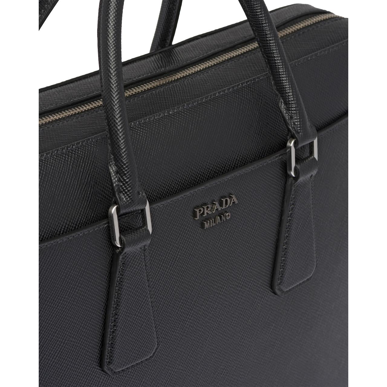 Prada Saffiano Cuir leather briefcase 5