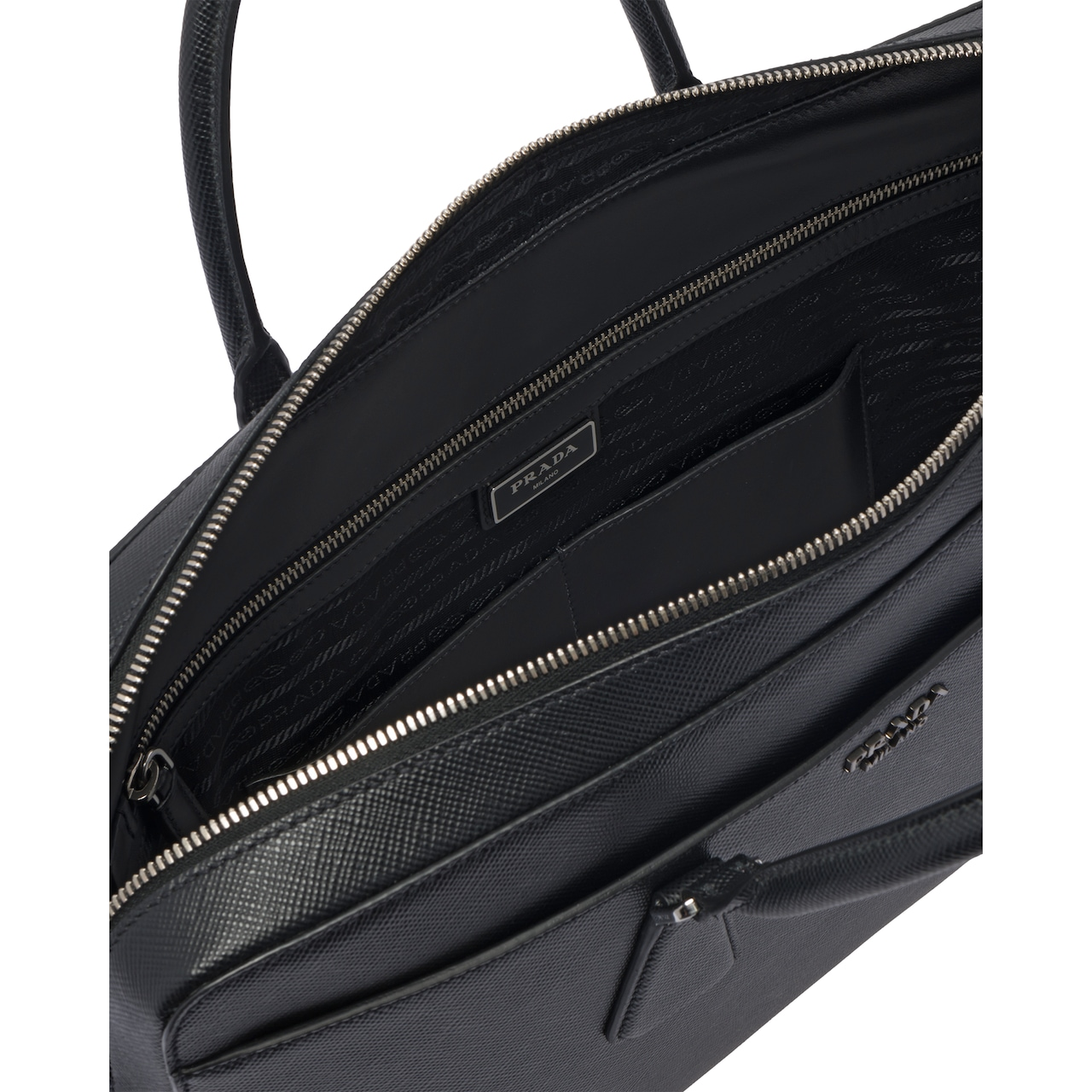 Prada Saffiano Cuir leather briefcase 6