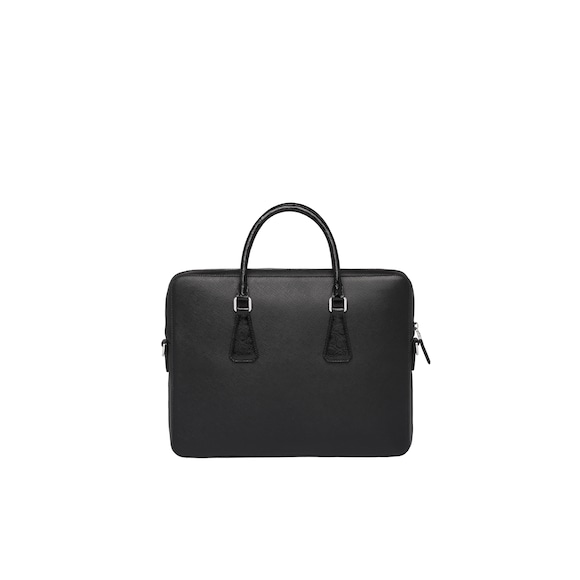 Prada Saffiano leather briefcase 4