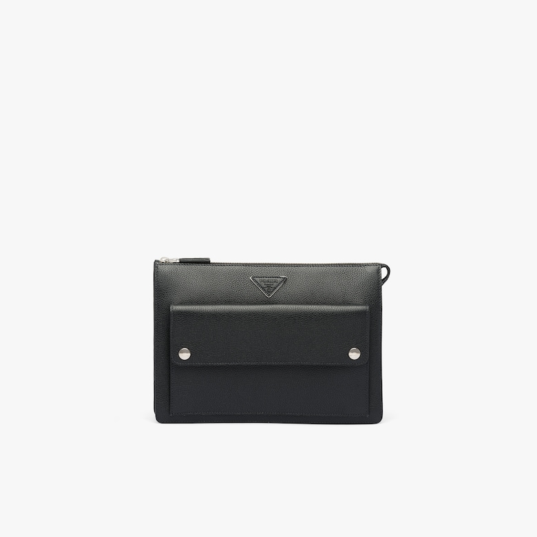 Prada Leather Clutch - Man