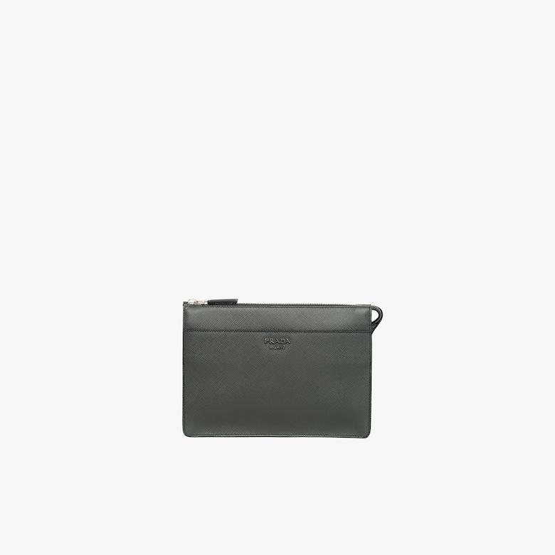 Prada Saffiano 皮革手包 - 男士