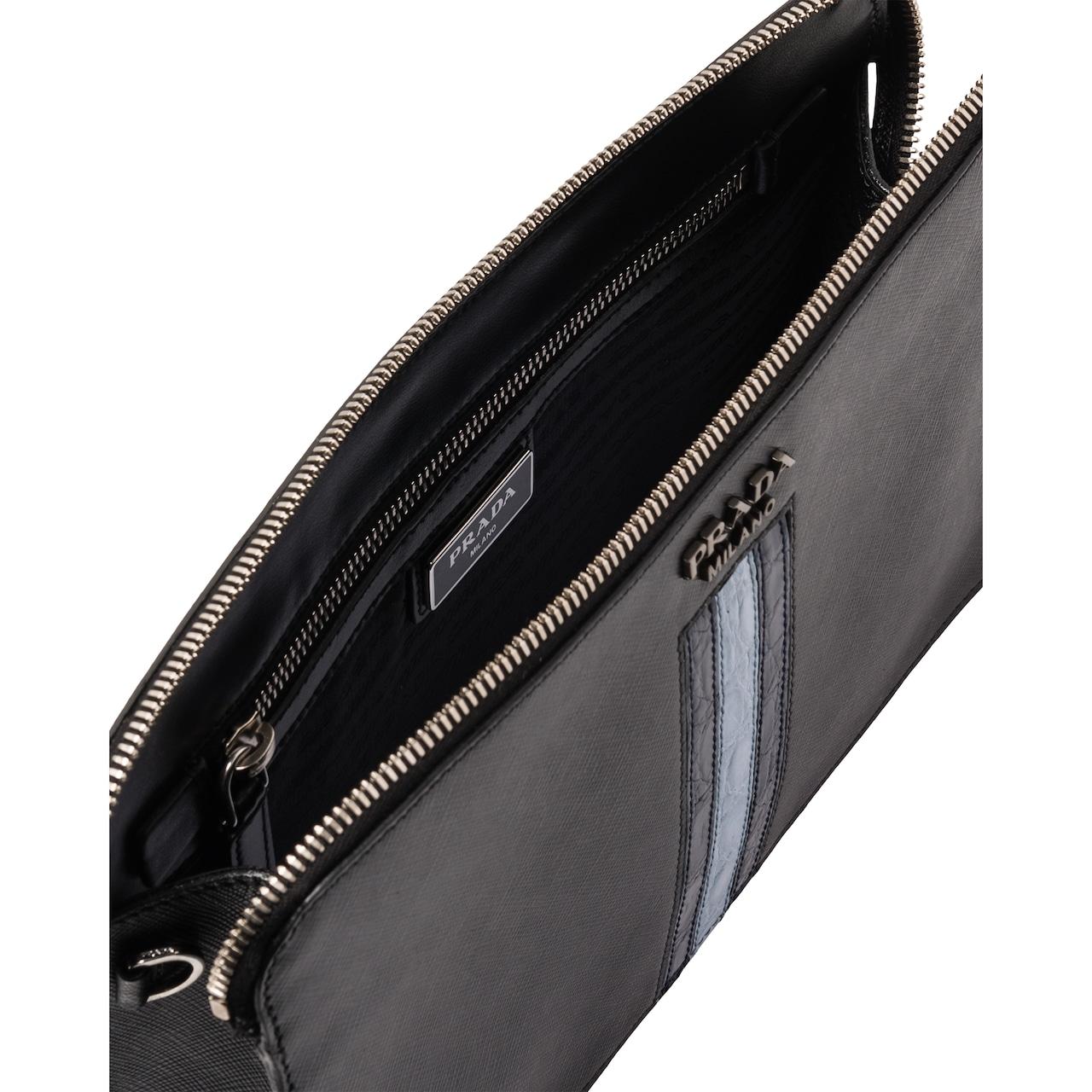 Saffiano leather men's bag