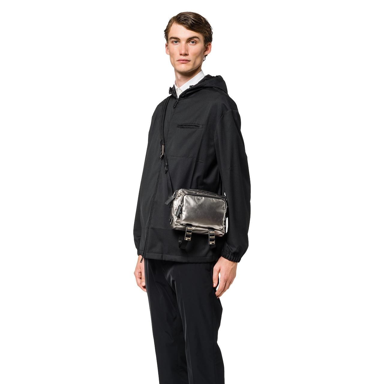 Technical fabric messenger bag