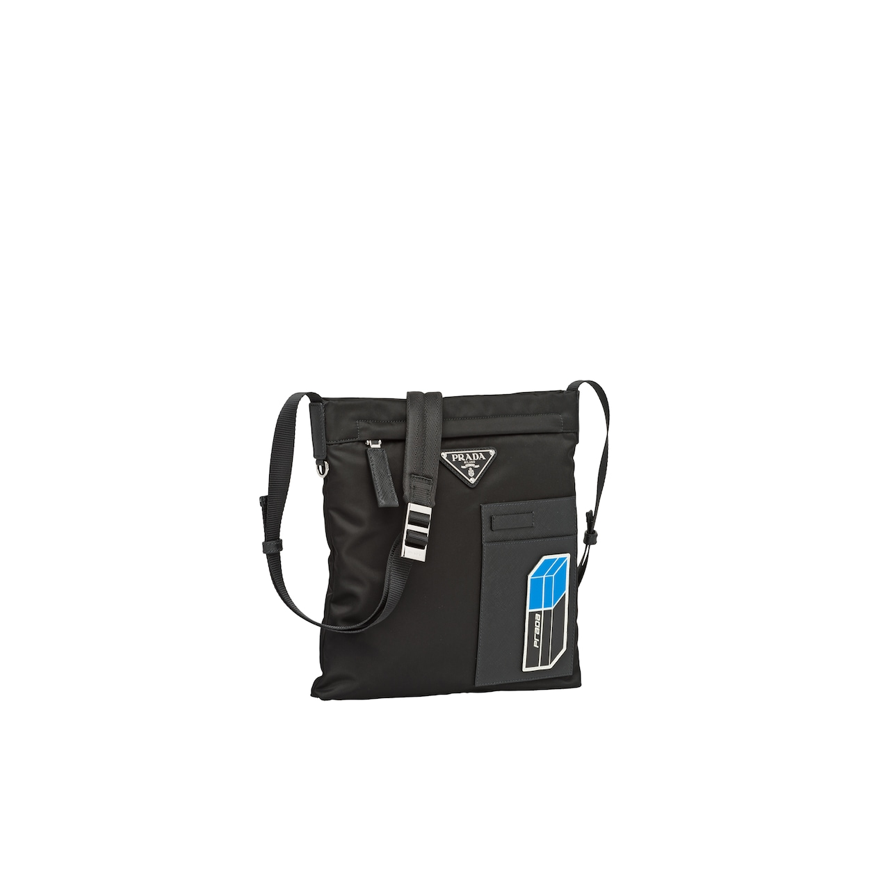Technical fabric shoulder bag