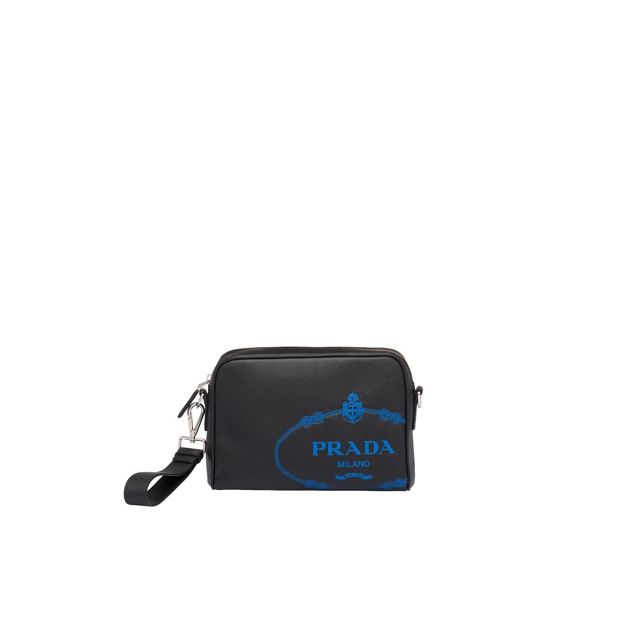 Saffiano leather bandoleer bag