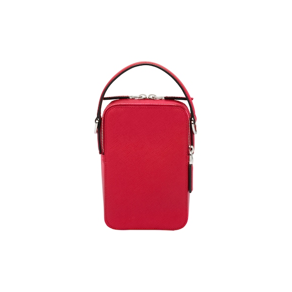 Saffiano leather bandoleer bag
