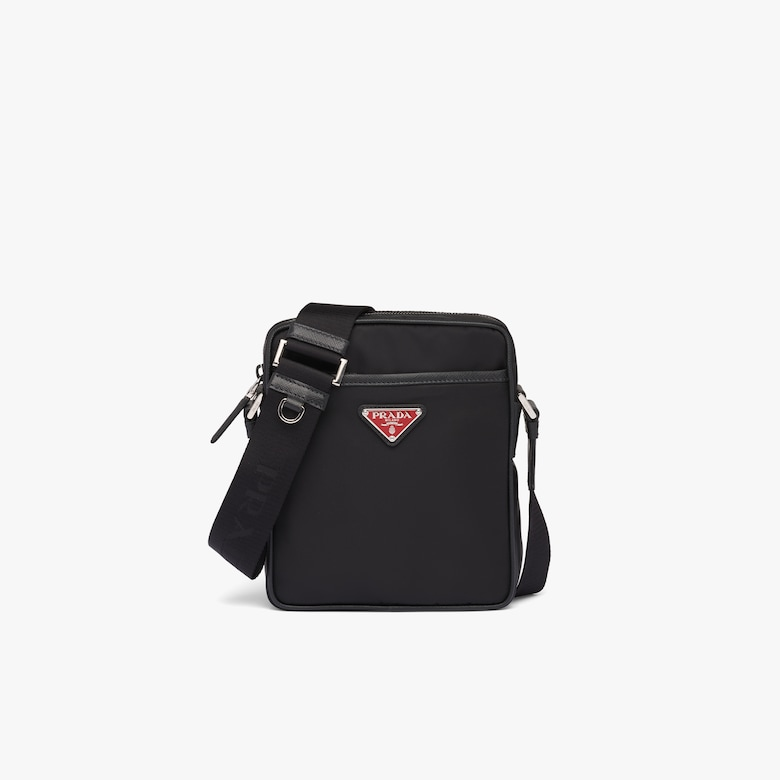 Prada Nylon and Saffiano Leather Bag with Strap - Man