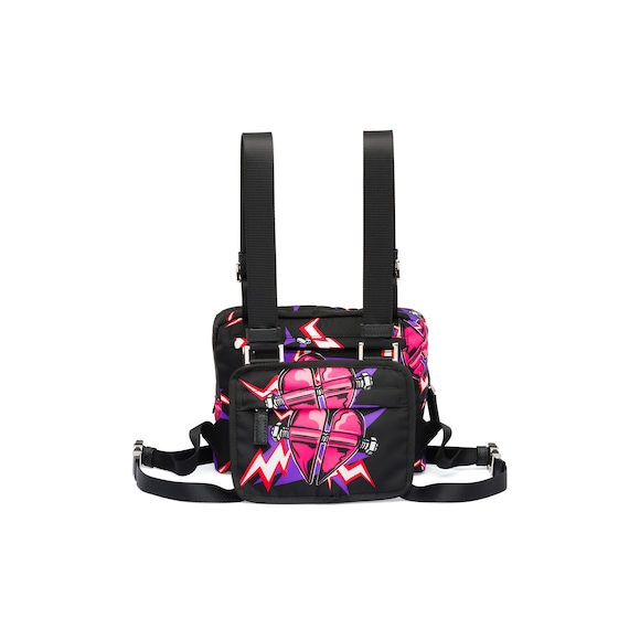 Technical fabric harness bags