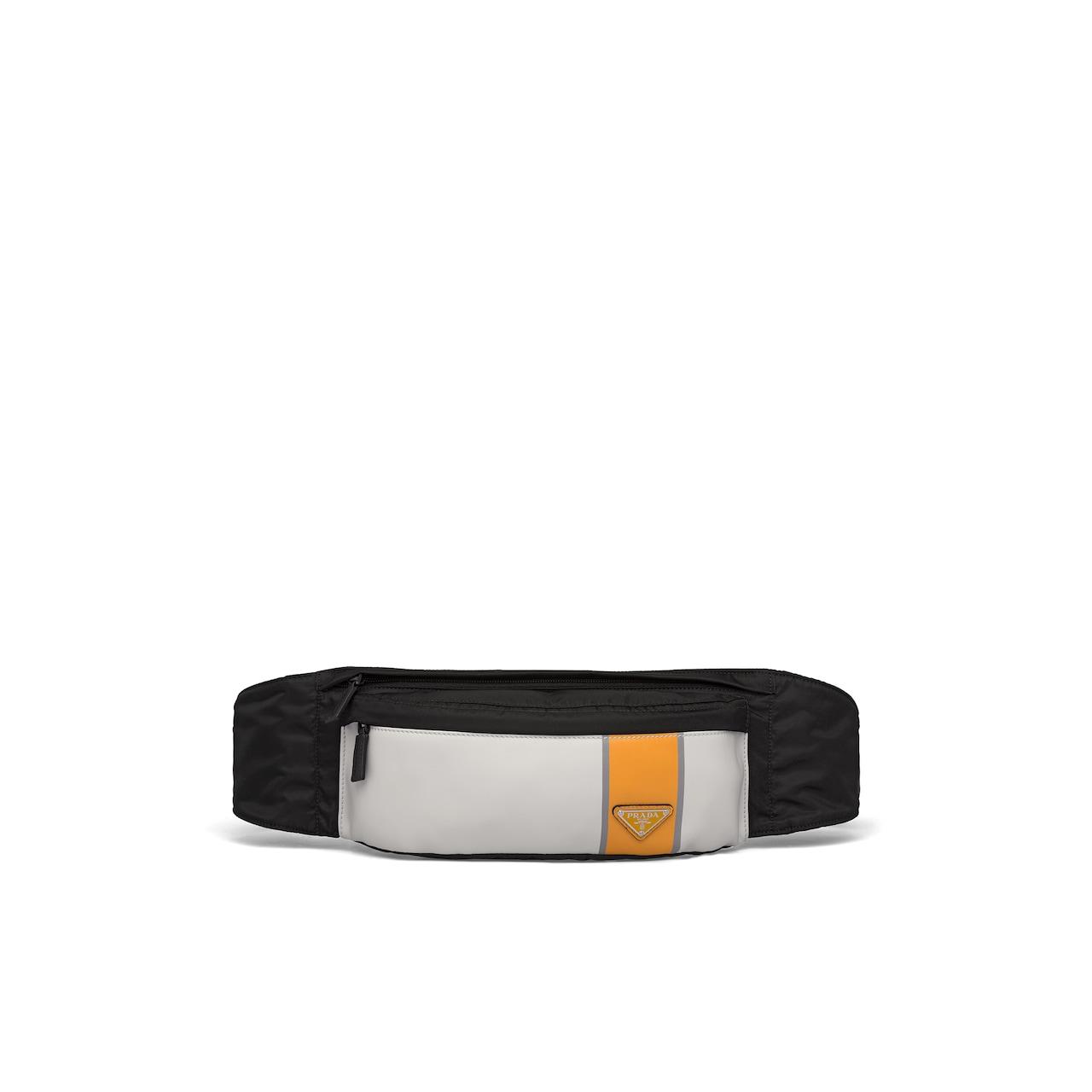 Prada Technical fabric and leather belt bag 1
