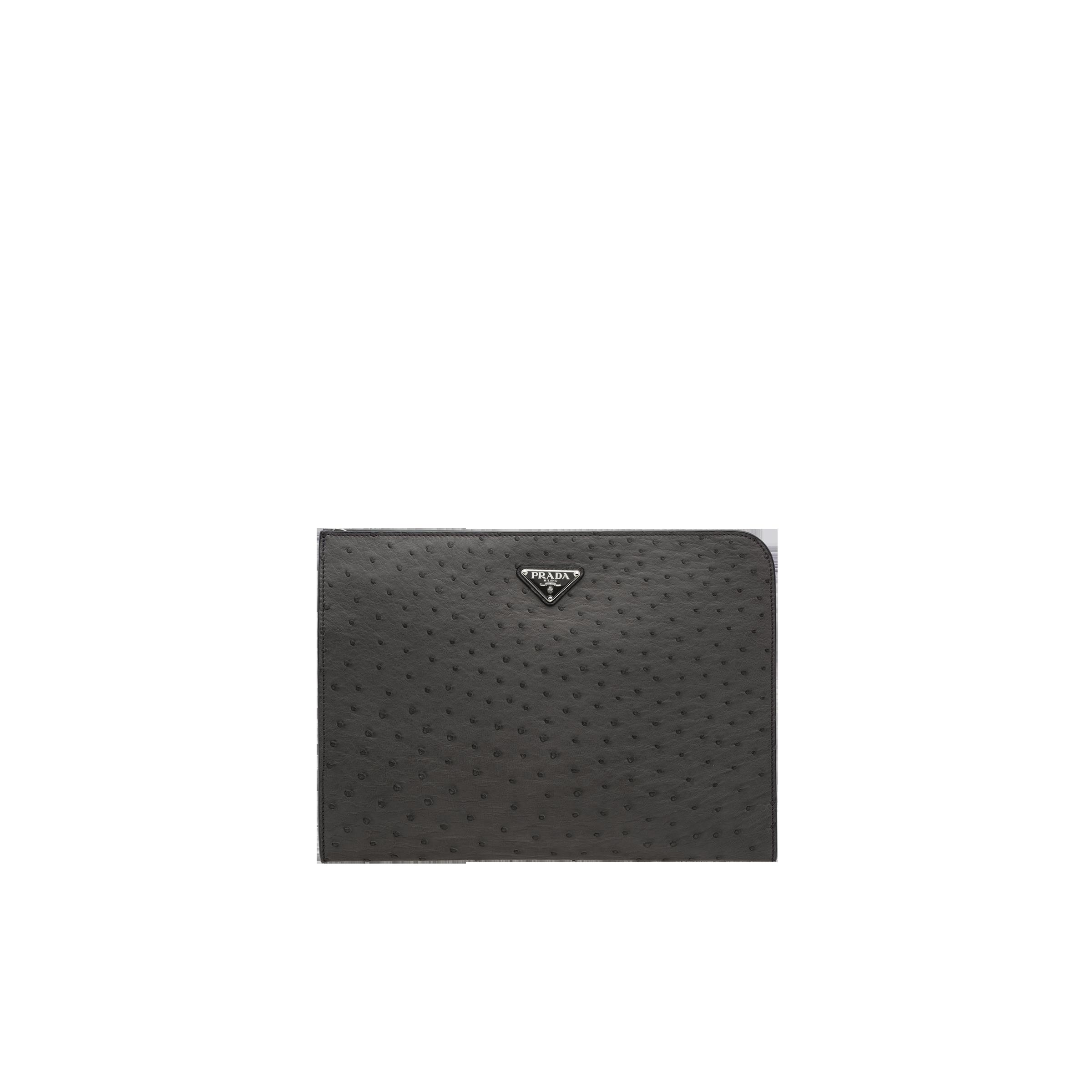 b52b5145e082 Ostrich leather document holder