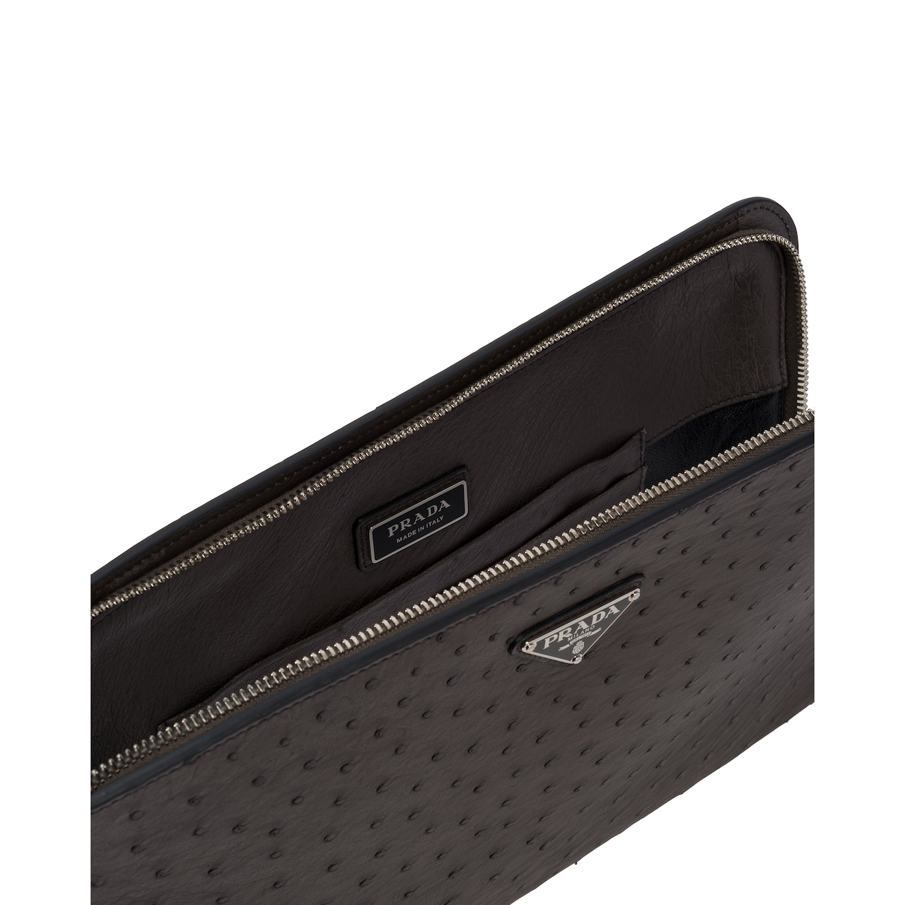 Ostrich leather document holder