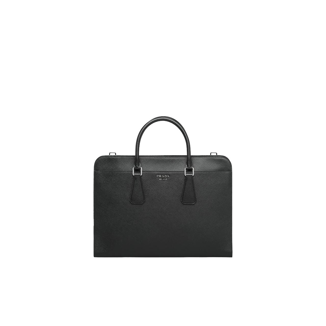 Prada Saffiano leather briefcase 1