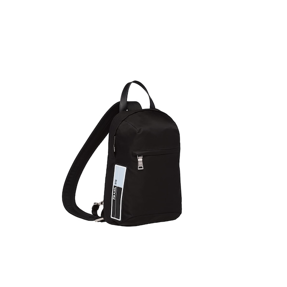 70a9937e7f The one-shoulder backpack from the Spring Summer 2018 in nylon with a  rubber logo patch reveals a minimalist design and a contemporary mood.