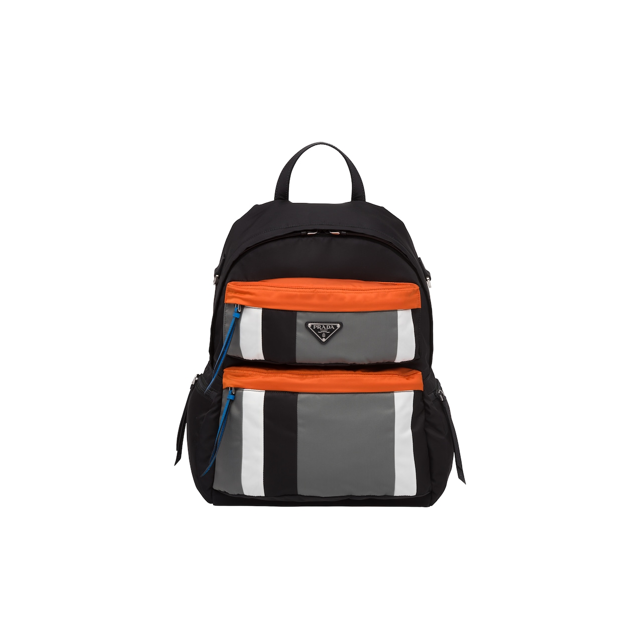 Printed technical fabric backpack
