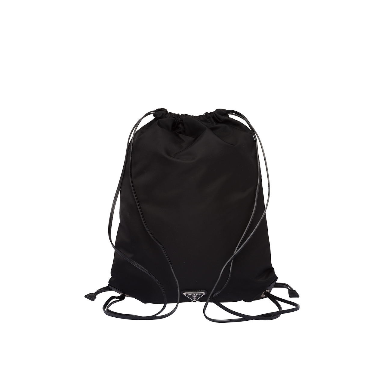 Saffiano leather and fabric backpack