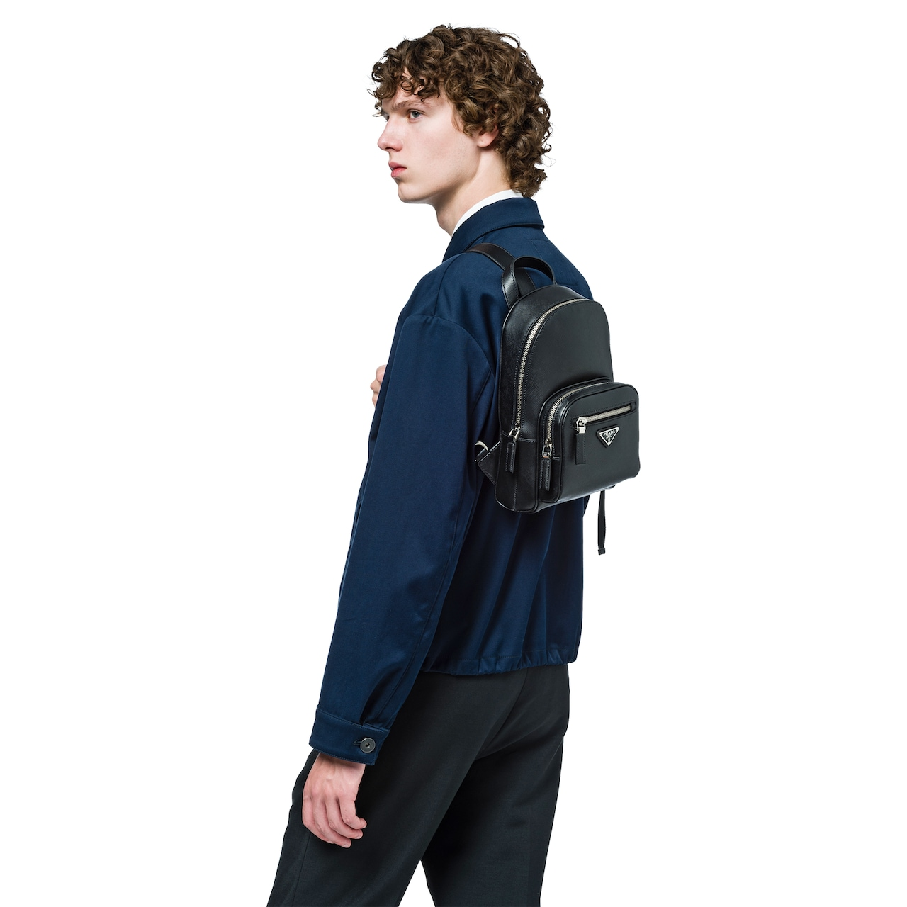 Saffiano one shoulder backpack