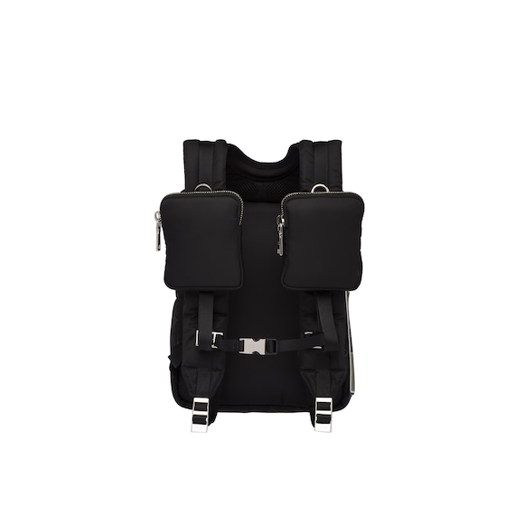Padded technical fabric backpack