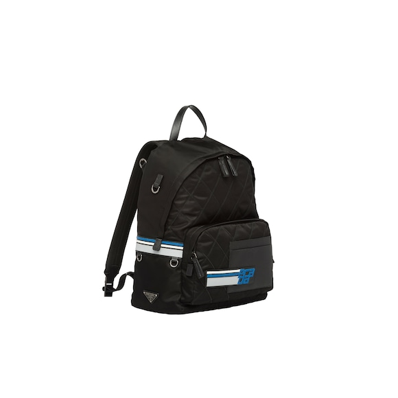 Technical fabric and nylon backpack