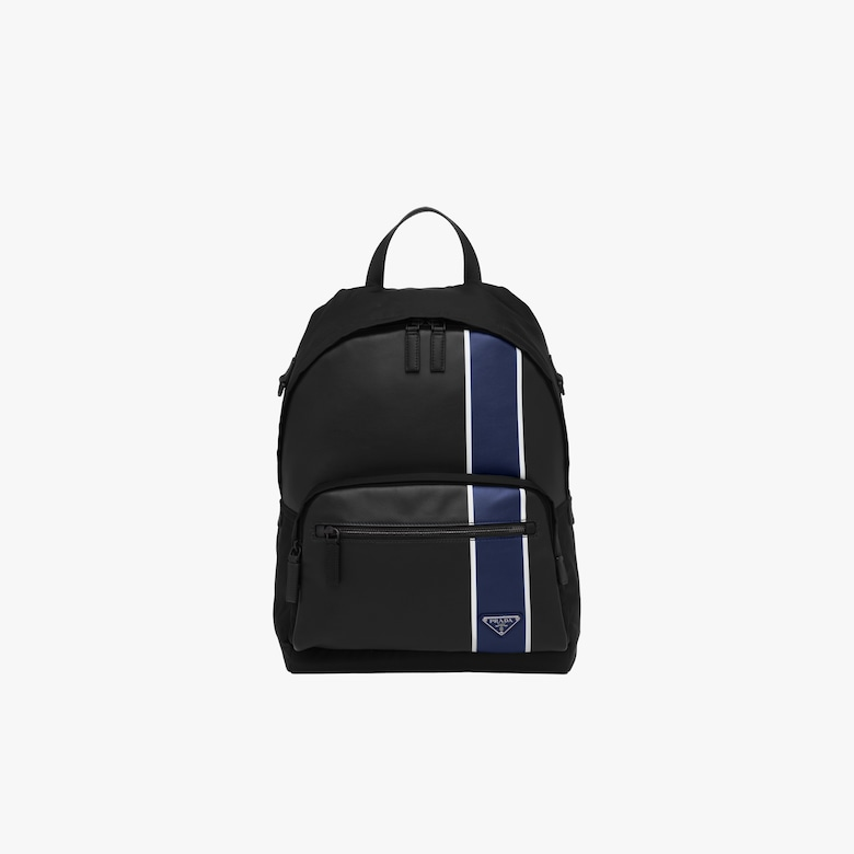 Prada Technical fabric and leather backpack - Man