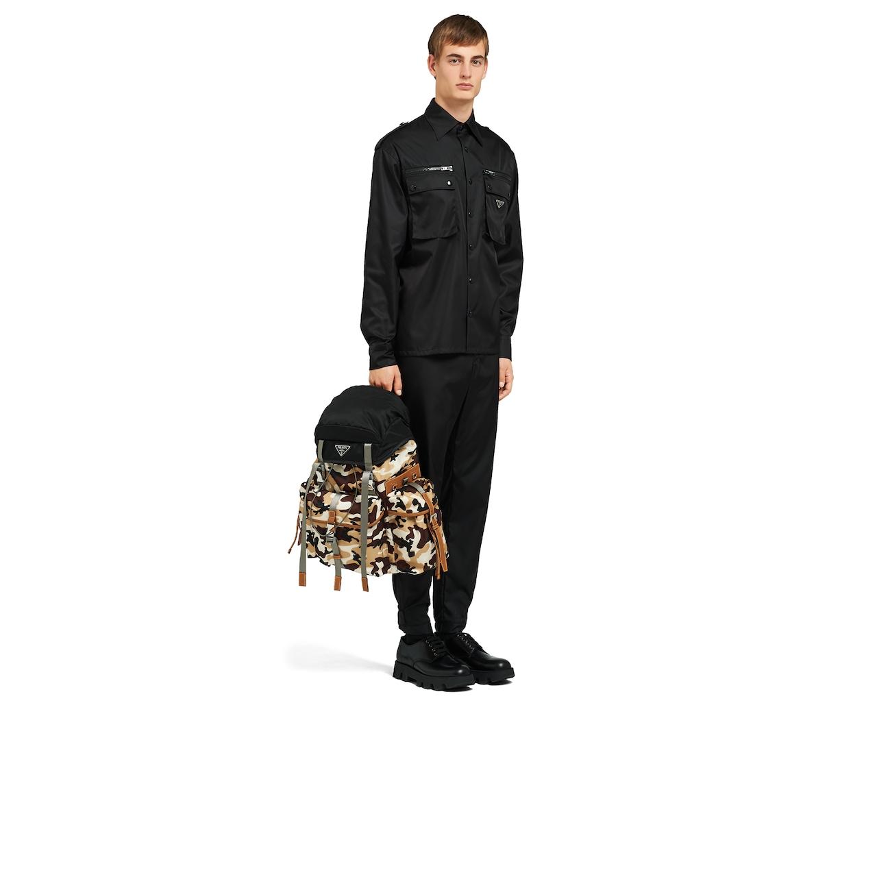 Prada 尼龙和Saffiano 皮革背包 7