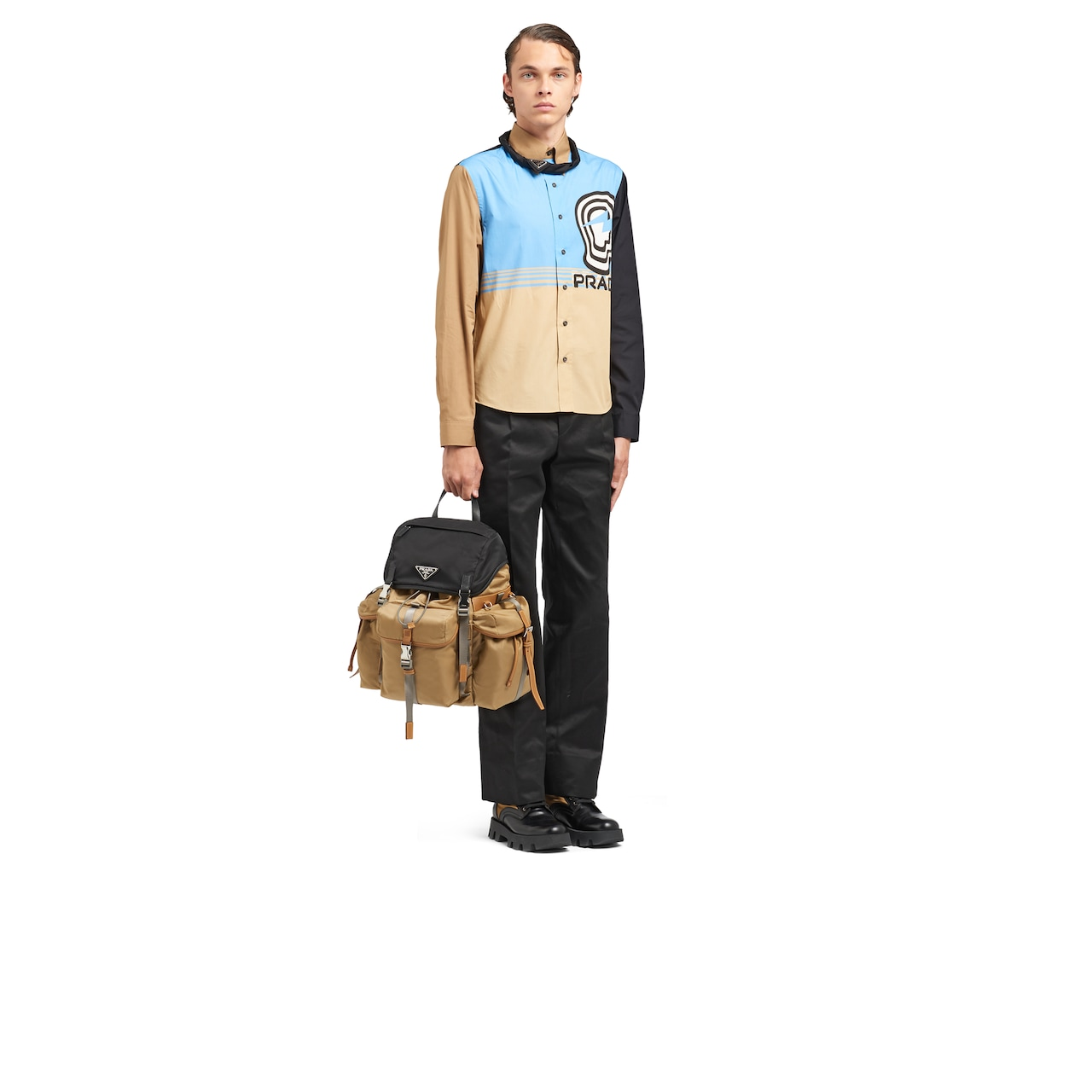 Prada Technical fabric and Saffiano leather backpack 7
