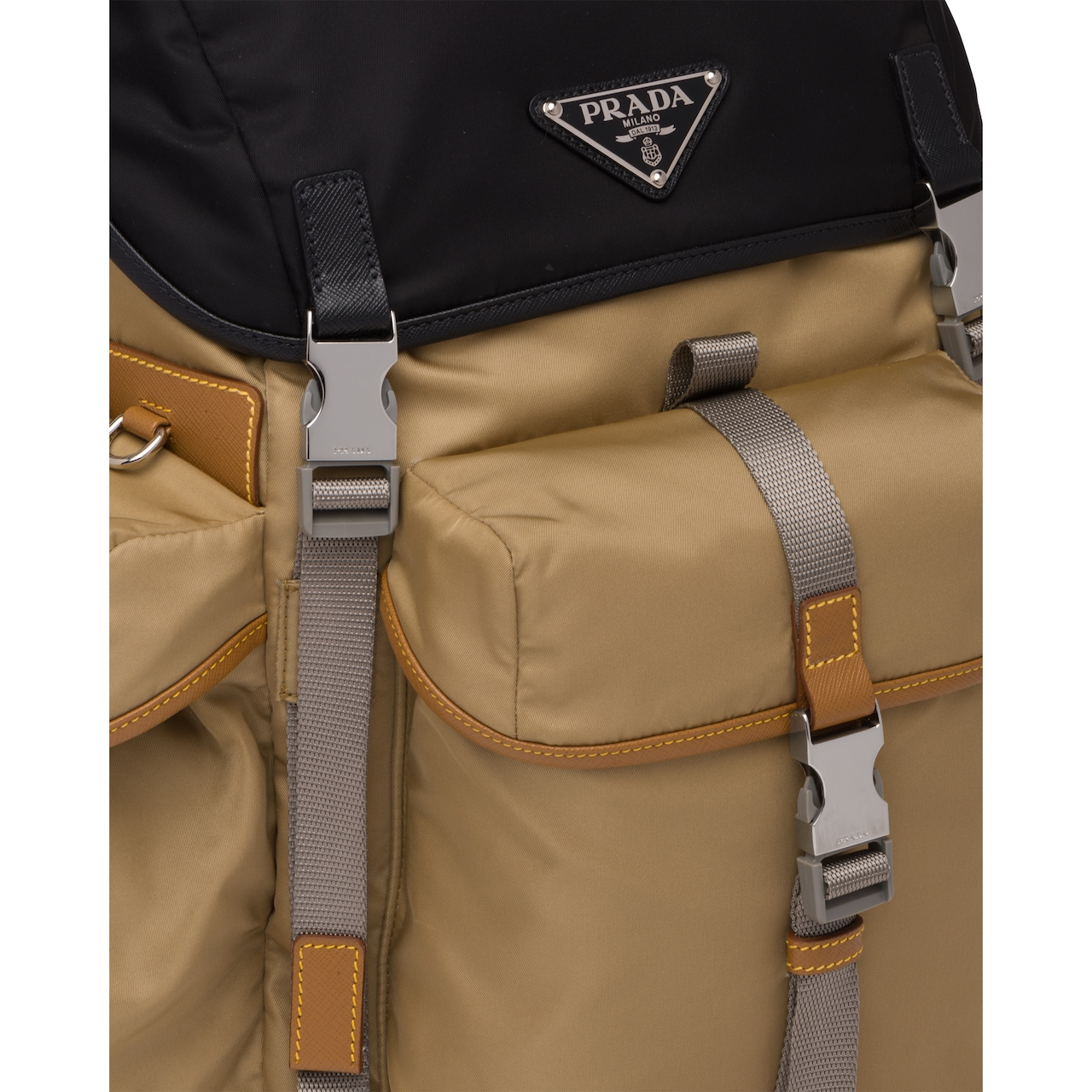 Prada Technical fabric and Saffiano leather backpack 6