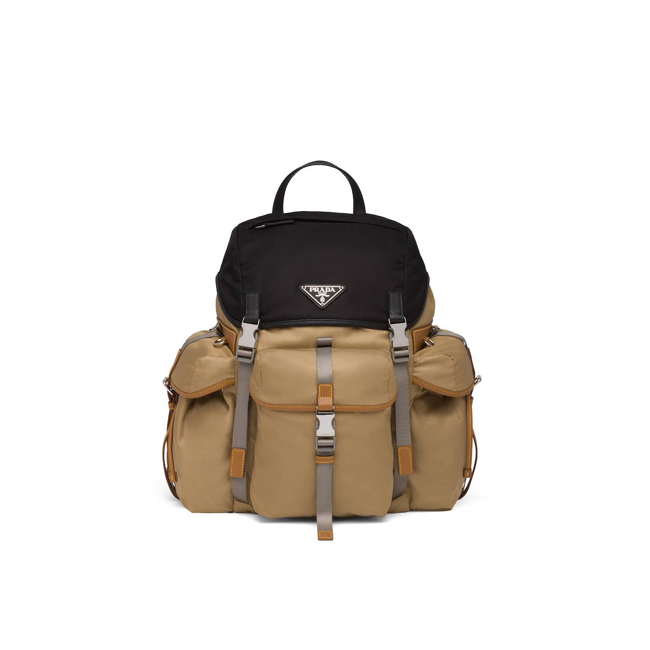 Prada Technical fabric and Saffiano leather backpack 1