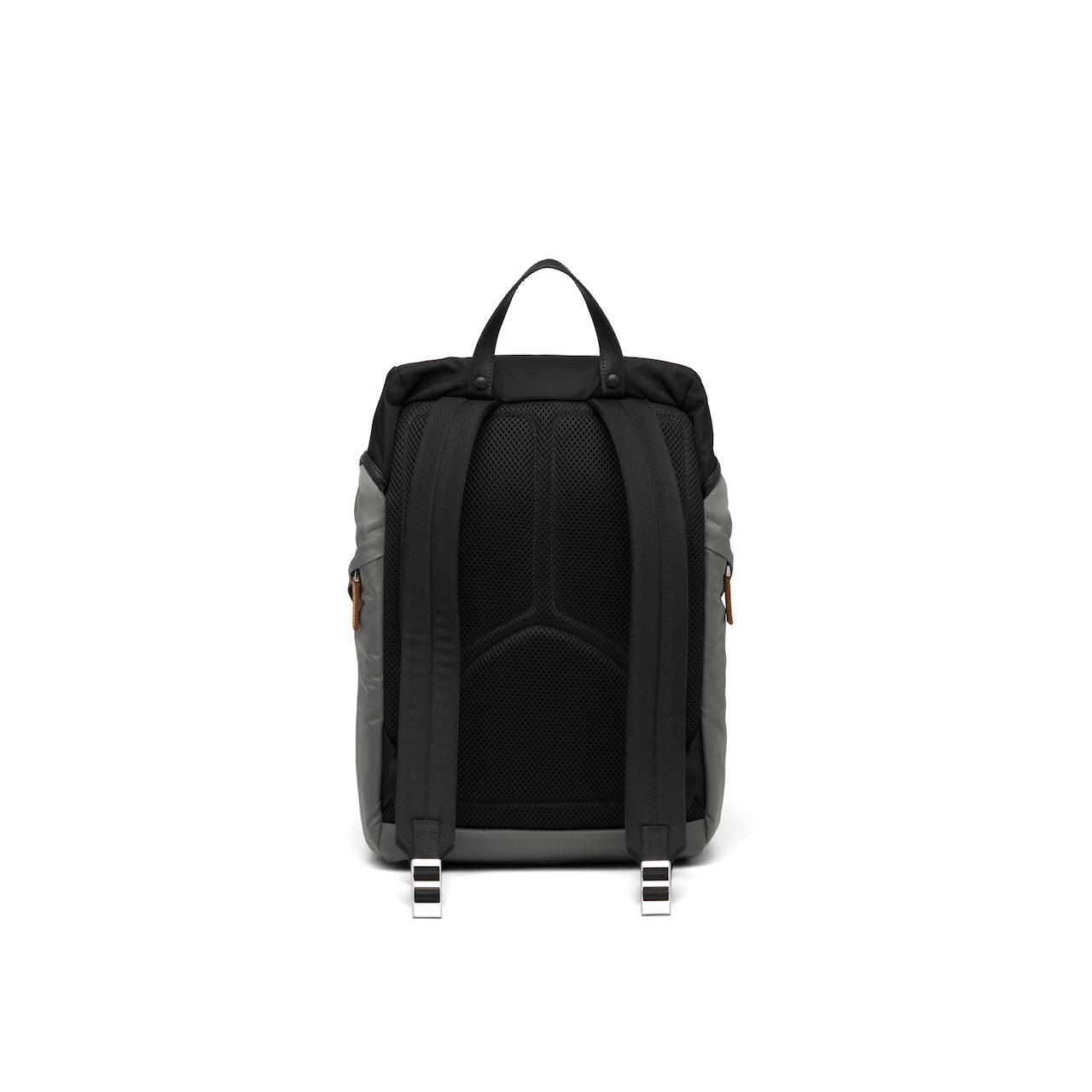 Prada Nylon and Saffiano leather backpack 4