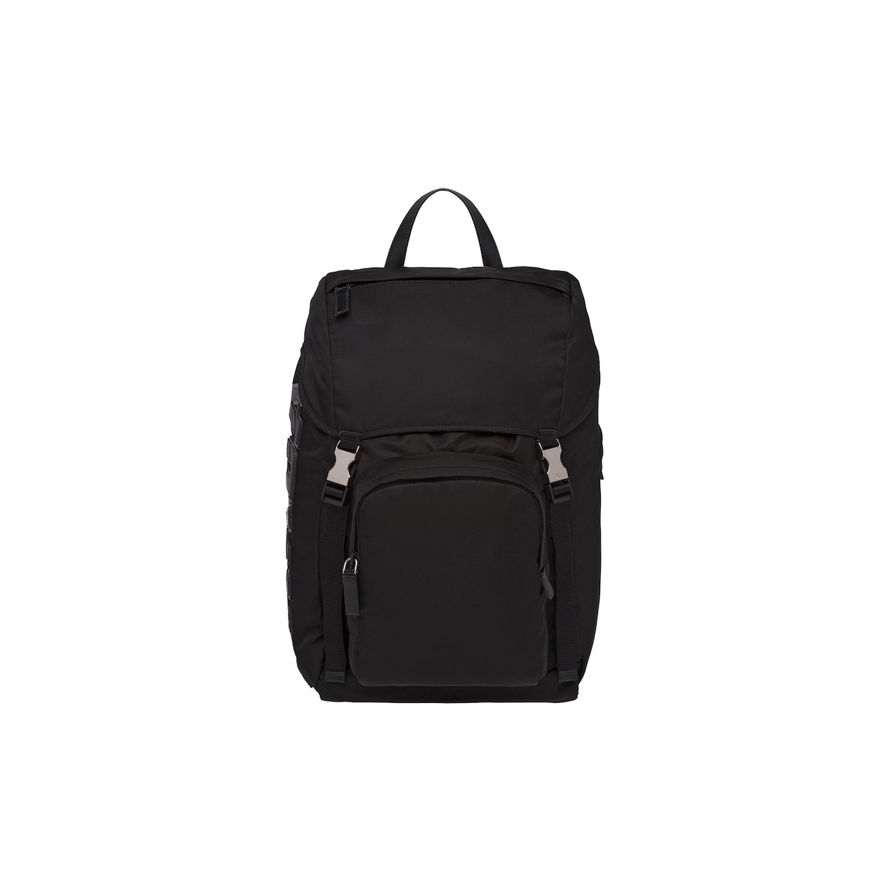 Nylon and Saffiano leather backpack